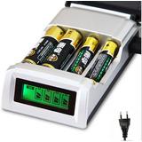 Cargador Pilas Baterias Aa Y Aaa Con Display Led