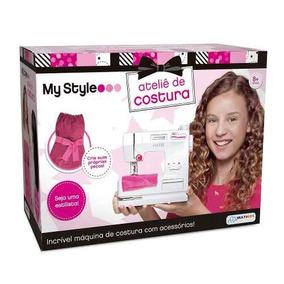 Maquina De Costura Brinquedo Infantil P/ Meninas Multikids