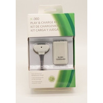 Bateria Controle Joystick Manete Xbox 360 Branco