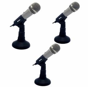 Micrófono Con Pedestal Kolke Kpi-049 Lote De 3 Unidades