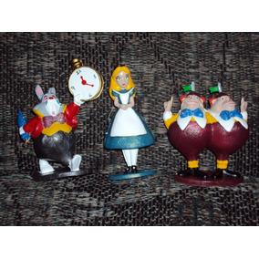 Lote De 3 Figuras Alicia En El Pais De Las Maravillas