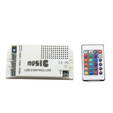 Controladora Audioritmica Tira De Led Rgb 5050/3528 Envio