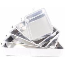 Jogo De Tabuleiro Assadeira De Alumínio 5 Pecas Alto - Bolo