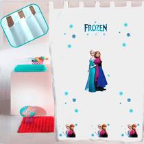 Juego De Cortinas De Diseño Niña Frozen