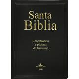 Biblia Letra Gigante Vinil Palabras Jesús Rojo Reina Valera