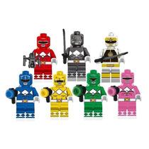 Genial Set De Figuras Los Power Rangers Compatible Con Lego