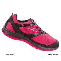 Tenis De Segurança Feminino Hft Fujiwara Pink/preto Cadarço