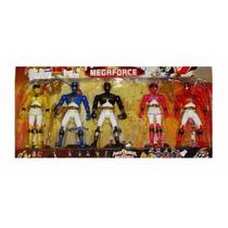 Juguete Set Power Rangers 5 Figuras Muñecos 17cm