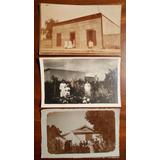 3 Foto Postales Casa Familia Pergamino Argentina Circa 1920