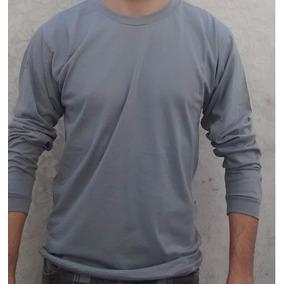 Camiseta, Algodão Manga Longa Comprida Sem Estampa Lisa