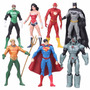 Liga De La Justicia Superman Flash Batman 7 Figuras 18cm