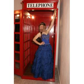 Vestido De 15 Años Azul Francia