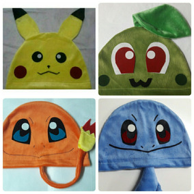Touca Pikachu/charmander/squirtle/chicorita