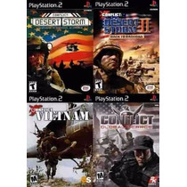 Conflict Global Terror Para Play 2 (kit 4 Jogos Ps2 Guerra