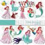 Kit Imprimible La Sirenita Pack Clipart Imagenes Png
