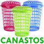 Canasto De Plástico Con Tapa Para Ropa - Oferta Tutti