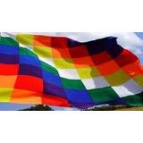 Bandera Aborigen Wiphala - 90x90cm - Nueva!