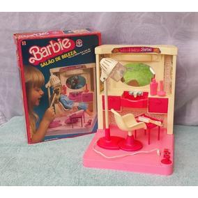 Barbie Antigo Salão De Beleza Estrela Na Caixa Rosa