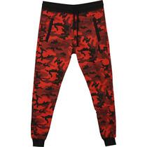 Pantalón De Frisa Bross Camuflado Rojo