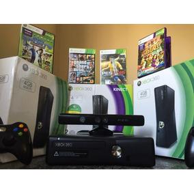 Xbox 360 Original + Kinect + Jogos + Controle Sem Fio .