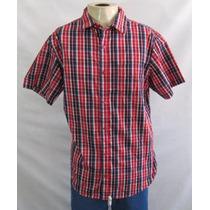 Camisa Ecko Manga Curta M Xadrez Importada 073