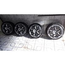 Vendo Ou Troco Roda Lamborghini 4x100 Com Pneus 205/40