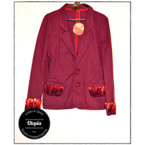 Blazer Mujer En Gabardina - Diseño Independiente