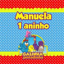 Kit 120 Rótulos Galinha Pintadinha+brinde Personalizados
