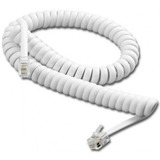Cable Auricular Telefono Espiral 3 Metros Blanco Fabans