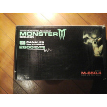 Potencia Monster M-650.4 - 2600w - 4 Canales-impecable