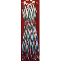 Vestido Playero Hippie Stretch T L Queda A S/m Multicolor
