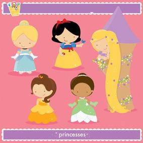 Kit Imprimible Princesas Disney 99 Imagenes Clipart