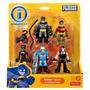 Dc Imaginext Pack Catwoman, Mr Freeze, Bane, Batman E Robin