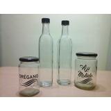 Botella De Vidrio Para Aceite O Licor
