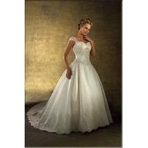 Vestido De Noiva - Tam. 40 - Pronta Entrega - Vn00028