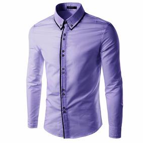 Camisa Fit Social Masculina Slim Importada A Pronta Entrega