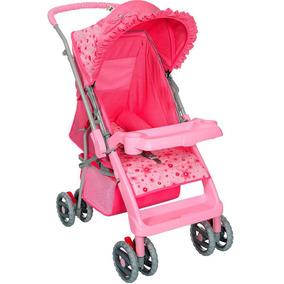 Carrinho De Bebê Berço Thor Rosa Laço New Tutti Baby