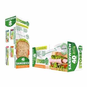 Bolsa Para Sandwich Bio 16.5 X 14.9 Cm 40 Pzas 82009 Storeit