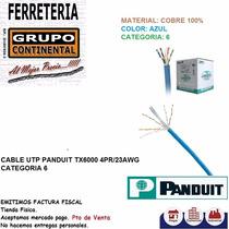 Cable Utp Cat6 Azul Panduit Original Por Metro Y Caja