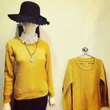 Sweater Moda Otoño Invierno Amarillo Colores Belle Indumenta