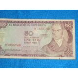 Billete De 50 Pesos Colombianos