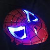 Spiderman Hombre Araña Mascara Electronica Ojos Led Azul