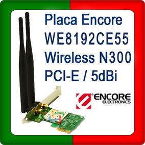 Placa Encore We8192ce55 Wireless N300 Pci-express 5 Dbi