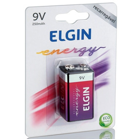Bateria 9v 250mah Recarregável Elgin Original