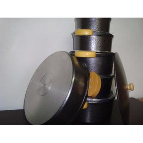 Jogo 5 Panela + Frigideira 32cm Alumínio Fundido Grosso 10mm