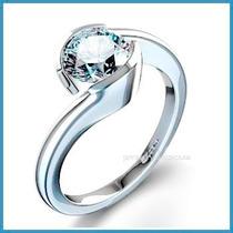Anillo De Compromiso Diamante Natural .45ct Oro 14k -50% 188