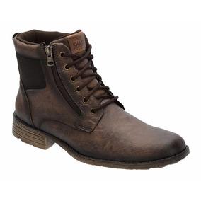 Sapato Botina Casual Masculino Khaata Confort Leve C/ Ziper