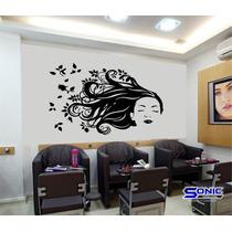 Adesivo Parede Salão Beleza Cabeleireiro Manicure Estética