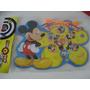 Mickey Tiro Blanco Pin Crayones Rompecabeza Stickers Gabym