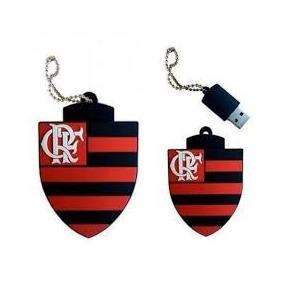 Pen Drive Time Flamengo Emborrachado 4gb Usb 2.0